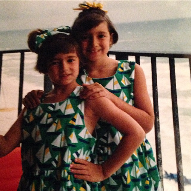 The original beach babes.☀️👯 #tbt in honor of @suzivansickle's bachelorette weekend! Can't believe it's finally here! Love you so much, seester!!! #cincodesuzi #vanrichey #seaside #twinning